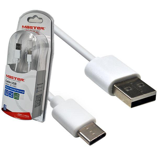 """CABLE USB A USB 3.1 TIPO """"C"""" CARGA - TRANSMISIÓN DE DATOS"""