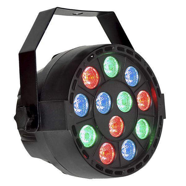 REFLECTOR DE LED PAR DMX 12 LED RGB