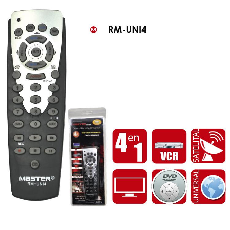 control remoto universal 4 en 1